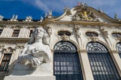 Oberes Belvedere-Schloss in Wien Lizenzfreies Stockfoto