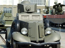 Oberes Pyshma, Russland - 2. Juli 2016: Ausstellung des Museums der militärischer Ausrüstung Lizenzfreie Stockfotografie