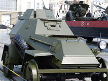 Oberes Pyshma, Russland - 2. Juli 2016: Mittleres gepanzertes Fahrzeug BA-64Ð, Probe 1942 Stockfoto
