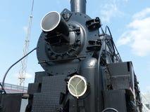 Oberes Pyshma, Russland - 2. Juli 2016: Zug mit Dampflokomotiv-Reihe Ov - Ausstellungen des Museums der militärischer Ausrüstung Stockbild