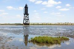 Obereversand lighthouse Royalty Free Stock Photo