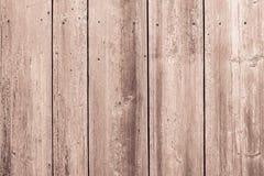 Oberfläche der alten braunen Farbe der hölzernen Bretter Stockfoto