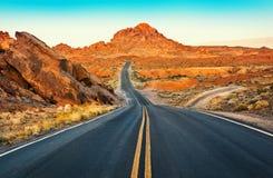 Oberfläche der Fahrstraße, Nevada Stockfotos