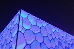 Oberfläche des olympischen Wasser-Würfels Pekings, China Lizenzfreies Stockfoto