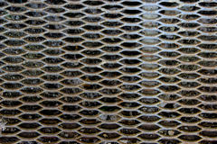 Oberfläche des vergitterten Metallschrittes Lizenzfreie Stockfotografie