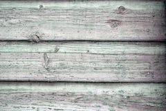 Oberfläche von alten hölzernen Brettern mit Schalenfarbenhintergrund Stockfotografie