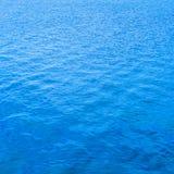 Oberflächenhintergrund des blauen Wassers, Beschaffenheitsmuster Lizenzfreie Stockfotografie