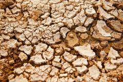 Oberfl?che des getrockneten Bodens mit einzigartigem Foto der Spr?nge stockfotografie