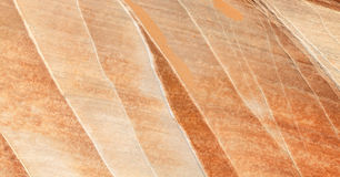 Oberfläche eines Felsens mit Mineraladern, Hintergrund oder Beschaffenheit Stockfoto