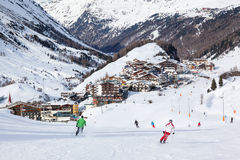 Obergurgl Ski Resort in Austria Royalty Free Stock Photos