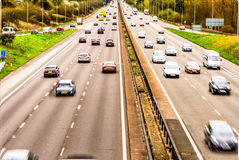 Oberhead view background of UK Motorway Road royalty free stock photography