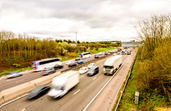 Oberhead view background of UK Motorway Road royalty free stock images