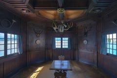 Oberhofen城堡,瑞士内部  库存图片