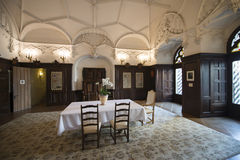 Oberhofen城堡,瑞士内部  库存照片
