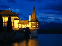 Oberhofen Castle (detail 02), Switzerland stock image