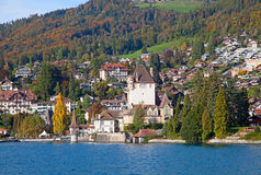 Oberhofen castle Stock Images