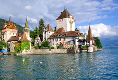 Oberhofen Castle,Lake Thun,Switzerland Stock Images