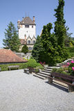 Oberhofen castle on the lake Thun in Switzerland Royalty Free Stock Images
