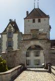 Oberhofen castle on the lake Thun in Switzerland Royalty Free Stock Image