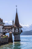 Oberhofen castle on the lake Thun in Switzerland. Oberhofen castle on the lake Thun, Switzerland Royalty Free Stock Photos