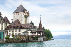 Oberhofen Castle, Schloss Oberhofen. Stock Photo