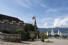 Oberhofen Castle, Switzerland royalty free stock photography
