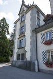 Oberhofen Castle, Switzerland royalty free stock images