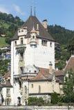 Oberhofen Castle, Switzerland stock image
