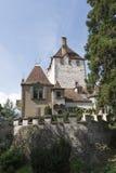 Oberhofen Castle, Switzerland stock photography