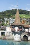 Oberhofen Castle, Switzerland stock photo