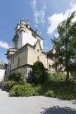 Oberhofen Castle, Switzerland stock images