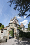 Oberhofen Castle, Switzerland stock photos