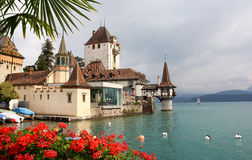 Oberhofen Castle, Switzerland royalty free stock photos