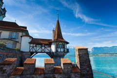 Oberhofen from inside Stock Image