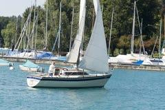 Oberhofen marina, Switzerland Stock Image