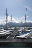 Oberhofen marina, Switzerland Stock Images