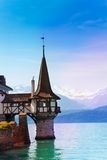 Oberhofen's castle lake tower Stock Photography