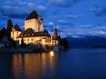 Oberhofen Schloss 03, die Schweiz Stockfotos