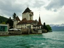 Oberhofen Schloss stockbild