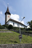 Oberhofen, Switzerland. Church in the village of Oberhofen on the lake Thun, Switzerland Royalty Free Stock Images