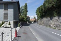 Oberhofen, Switzerland royalty free stock image
