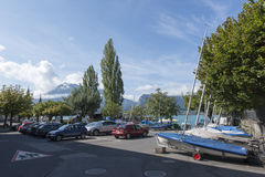 Oberhofen, Switzerland royalty free stock photography
