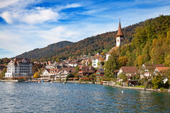 Oberhofen village Royalty Free Stock Photos