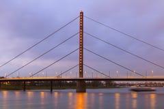 Oberkasseler Bridge in Dusseldorf Stock Image