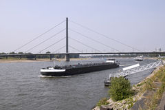 Oberkasseler Bridge in Dusseldorf Stock Photos