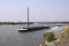 Oberkasseler Bridge in Dusseldorf Stock Photos