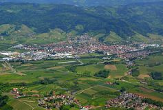 Oberkirch Renchtal Ortenau, antena zdjęcia royalty free