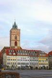 Oberkirchplatz in Frankfurt-Oder city, Germany Royalty Free Stock Photos
