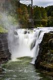 Oberleder-Fälle - Letchworth-Nationalpark, New York stockfotografie