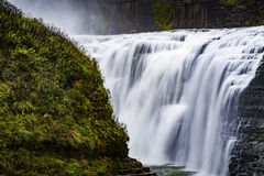Oberleder-Fälle - Letchworth-Nationalpark, New York lizenzfreie stockbilder